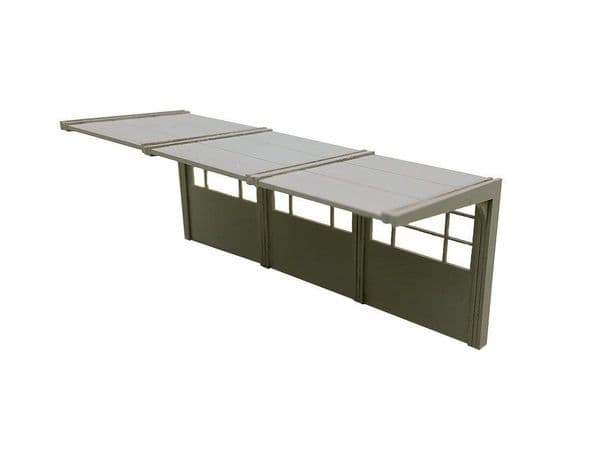 LX157-OO 1960s/70's Modular Concrete Bus Shelters OO/4mm/1:76